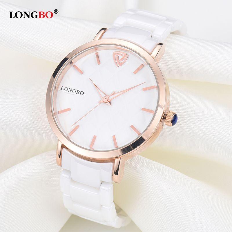 Женщин женское элегантный Longbo Люкс Шарм Дамы керамические часы моды горячие продажи продукта часы-браслет montre Femme Saat