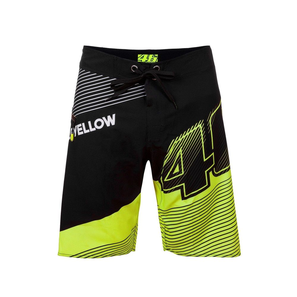 VR46 MotoGP Boarder Shorts Valentino Rossi The Doctor Vale Fortysix Bermuda VALEYELLOW 46 Short Beachwear