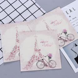 Новый Винтажный велосипед Эйфелева башня бумажные салфетки кафе и вечерние салфетки украшение в технике декупажа бумаги 33 см * 33 см 20 шт./упа...
