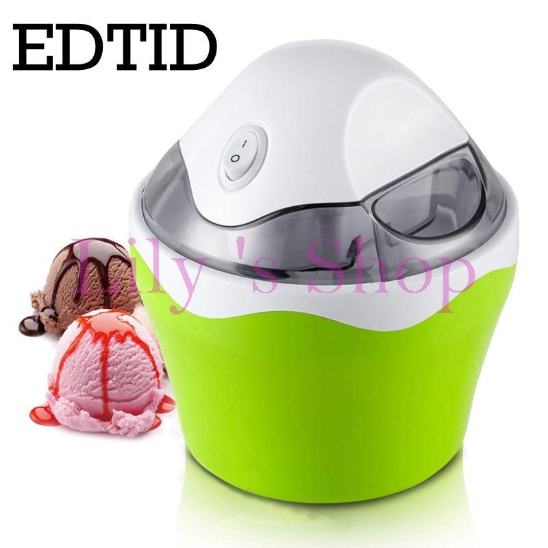 Fruit ice cream making machine home electric MINI DIY icecream maker tool Automatic household for kids children 0.5L EU US plug