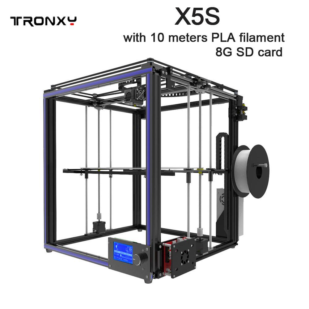 Heißer verkauf TRONXY X5S druck größe 330*330*400mm 3D Drucker Volle Aluminium profil 3d druck