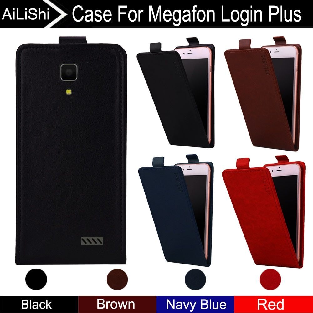AiLiShi For Megafon Login Plus Case Up And Down Vertical Phone Flip Leather Case Megafon Phone Accessories 4 Colors + Tracking!