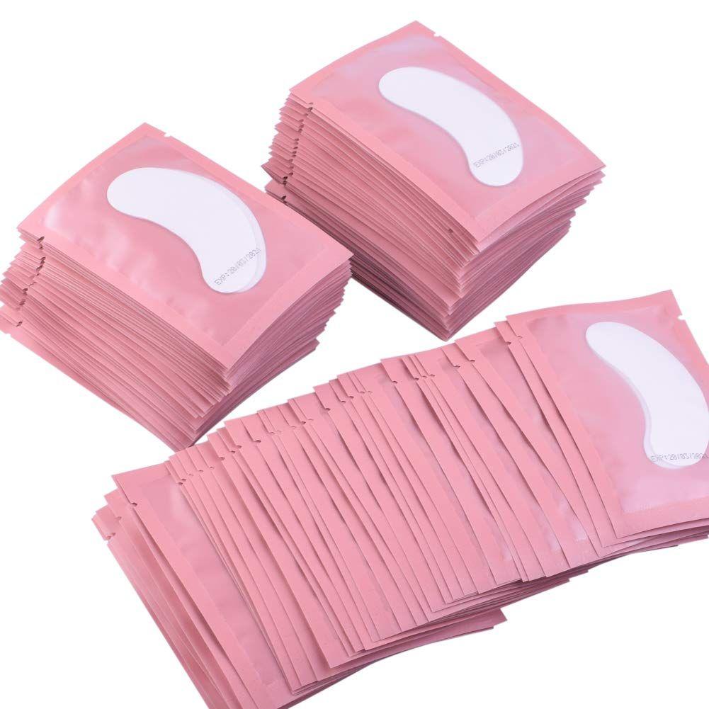 100 paires Extension de Cils Papier Patches Greffés Oeil Autocollants 7 Couleur Cils Sous Tampons Oculaires Eye Papier Patches Conseils Autocollant