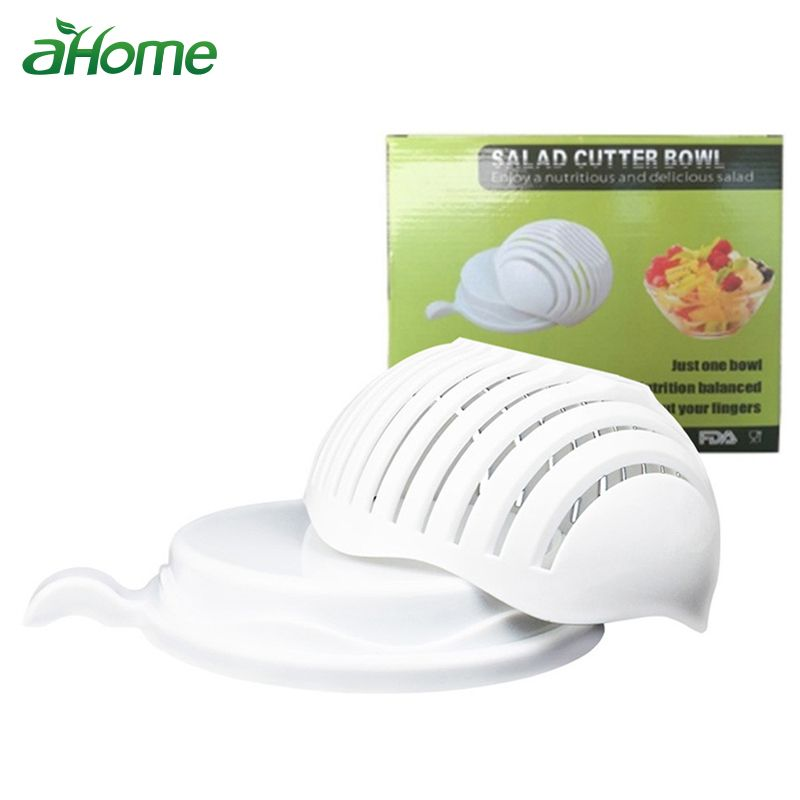 Kitchen Tools 60 Seconds Salad Cutter Bowl Easy Salad Maker Tool Easy Salad Maker Vegetable Fruits Slicer Chopper Cutter