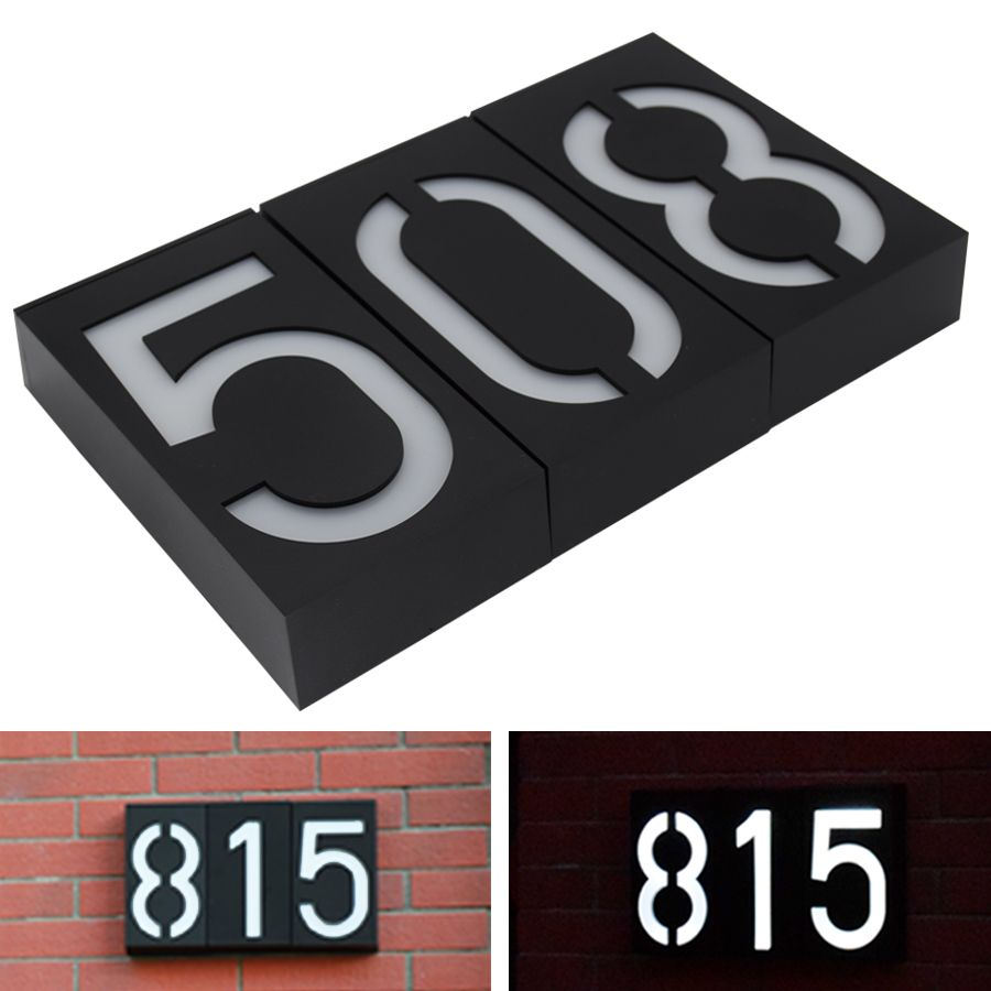 <font><b>Solar</b></font> Powered Wall Mount 6 LED Bulb Lamp Illumination Doorplate Lamp House Number Porch Lights With <font><b>Solar</b></font> Battery