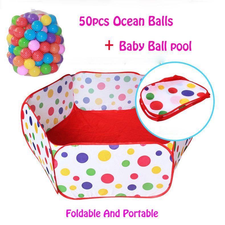 50 pcs boules + Extérieur/Intérieur Océan Piscine À Balles Bébé Pliable de Parcs Pour Enfants Enfants Pit Activité et vitesse Jouet Clôtures 1 M 1.2 M 1.5 M