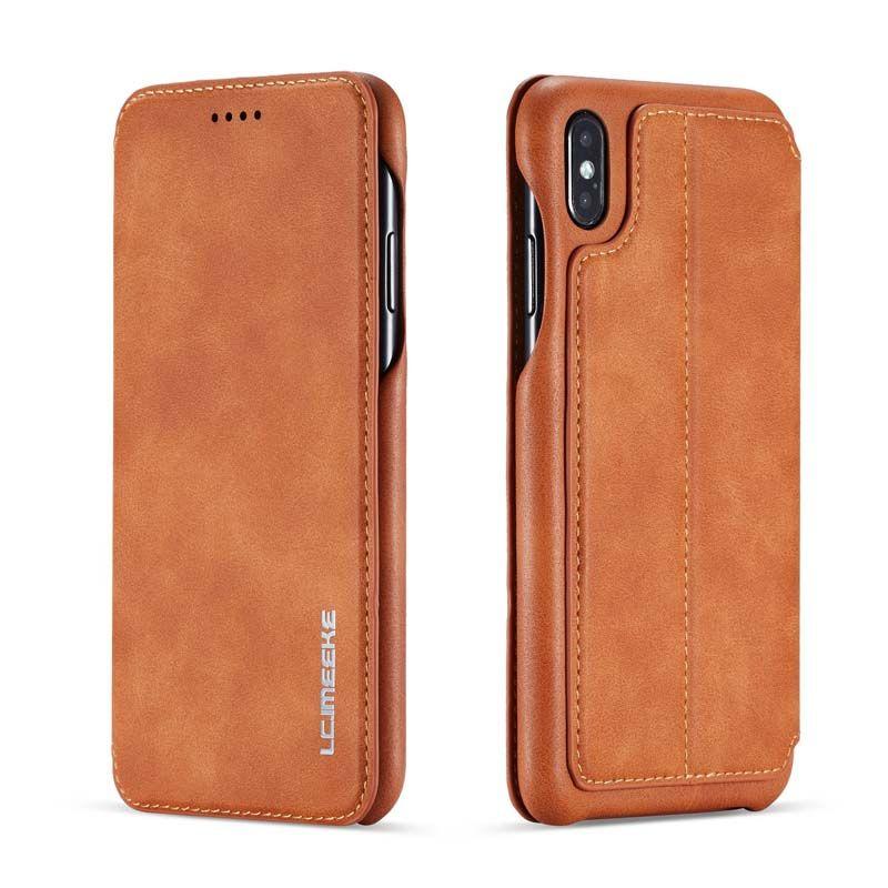 Portefeuille Original en cuir rétro Design de livre d'affaires magnétique pour iphone XS Max XR XS X 6 6S 6plus 7 8 7Plus 8Plus JS0715