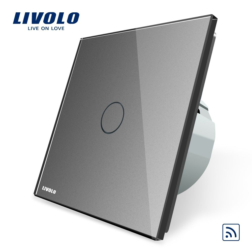 Livolo EU Standard Remote Switch, AC 220~250V Wall Light Remote Touch Switch VL-C701R-15, Without Any Remote Controller