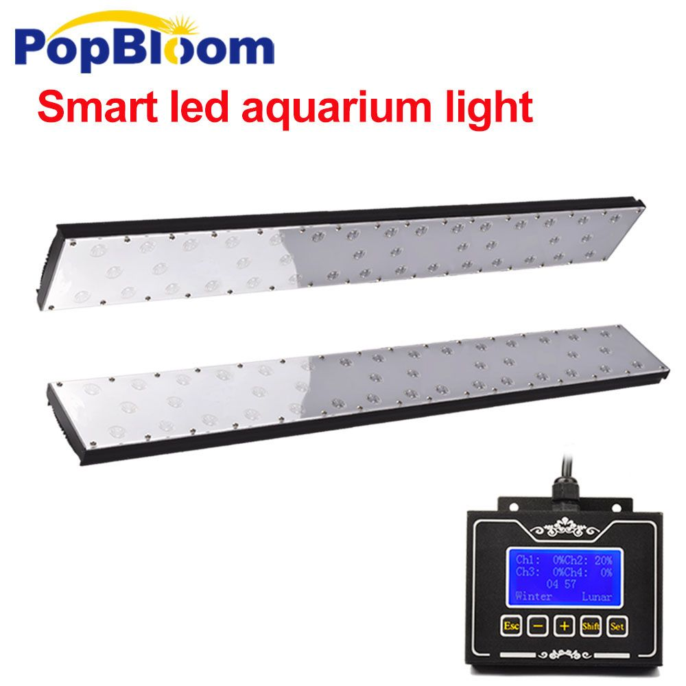 PopBloom led aquarium beleuchtung led für aquarium aquarium lampe für marine tank licht mit programmierbare controller FF9BP2