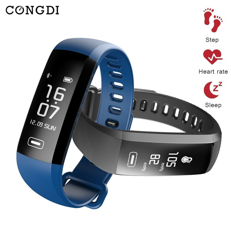 congdi R5PRO Smart Bracelet IP67 Fitness Tracker Watches Band Heart Rate Monitor Step Counter Alarm Clock Wristband for tezer