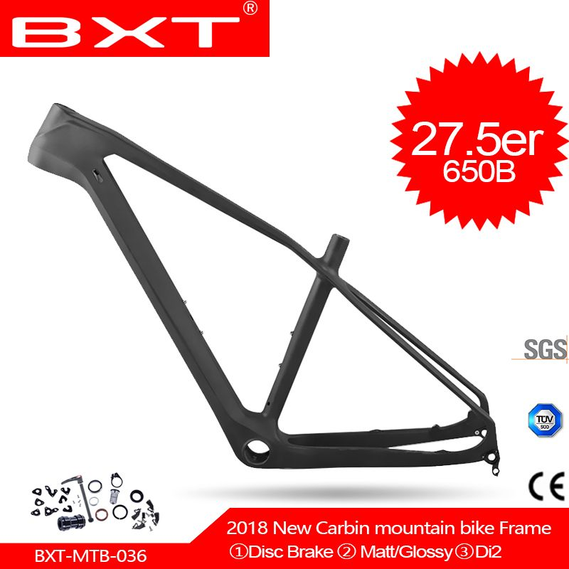 2018 BXT New Carbon mtb Mountain Bikes Frame 27.5er T800 UD Cheap China Carbon Bike Bicycle Frame mtb 27.5er Bike Carbon Frame
