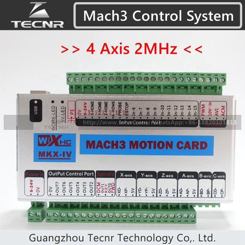 XHC MK4 Mach3 breakout board 4 axis USB motion control card 2MHz support windows 7,10