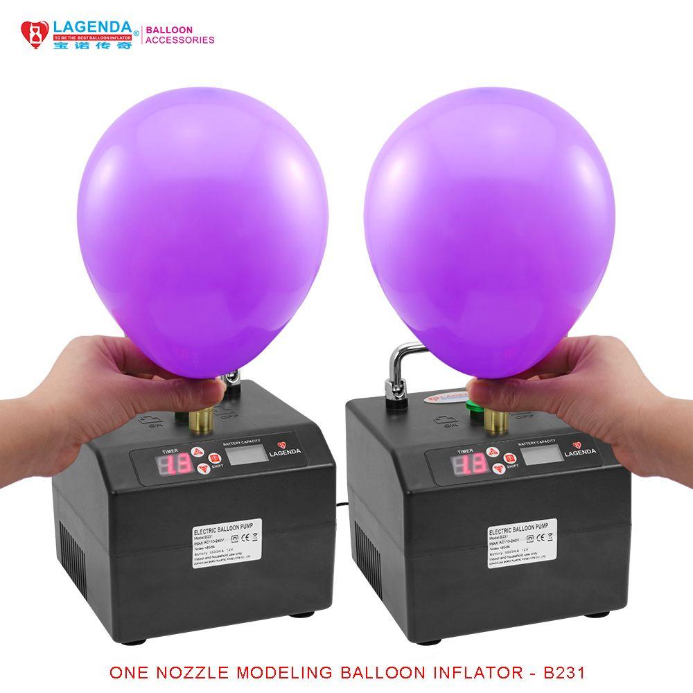 B231 Professionelle Lagenda Verdrehen Modellierung Ballon Inflator mit Batterie Digitale Zeit und Zähler Electirc Ballonpumpe