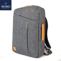 2018 WIWU рюкзак для ноутбука 15,6 15,4 14 холст водостойкий рюкзак кожаная сумка для Macbook Pro 15 мужской рюкзак сумка для ноутбука 15,6