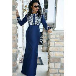 Robes pour femmes dashiki africaine traditionnelle design matériau souple longue robe