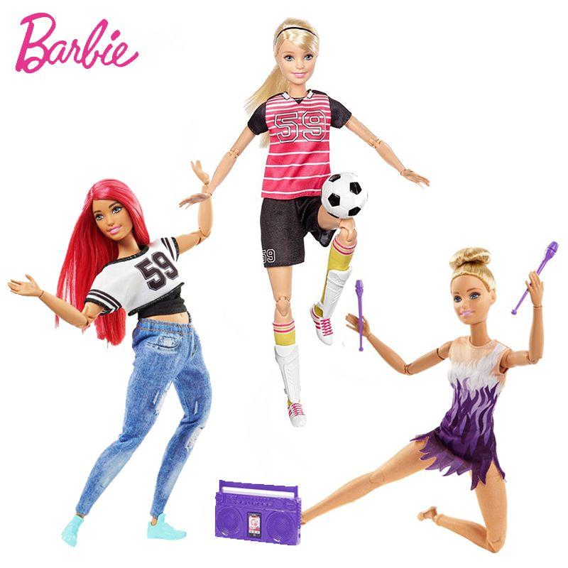 Original Barbie Brand Girl Doll Toys Sport All Joints Move Set Barbie Birthdays Girl Gifts For Kids Boneca toys for children