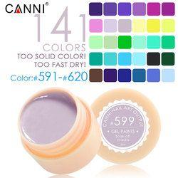 #50618 CANNI Nail Art En Gros Haute Qualité Soak Off 141 Couleurs Couleur Gel UV/LED 2 en 1 Gel Peinture