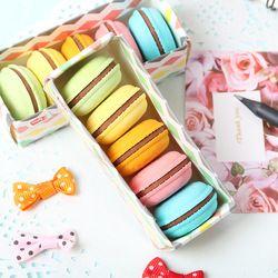 5 PCS/Lot Nouveauté Macaron En Caoutchouc Gomme Creative Kawaii Papeterie Fournitures Scolaires Papelaria Cadeau Pour Enfants