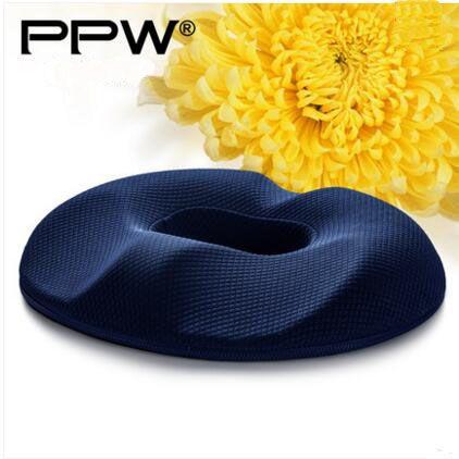 PPW Bamboo Charcoal Cushion P07E07 Polyurethane Visco Elastic Anti - Hemorrhoid Foam Rond Donut Seat Cushion