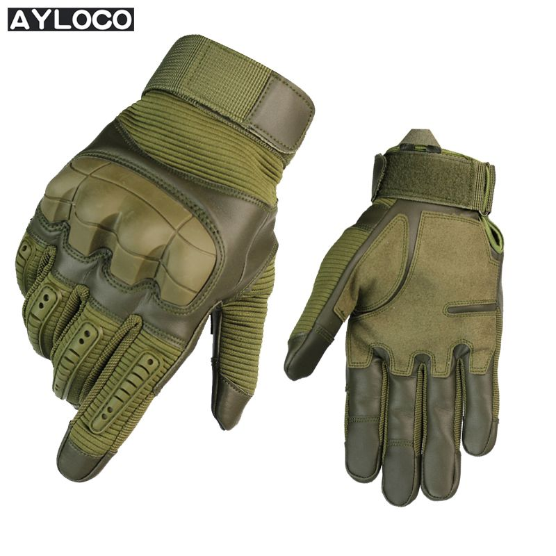 New Arrival Touch Screen Tactical Gloves gym Military luvas Army Paintball Shooting Anti-Skid Rubber Knuckle Full Finger Gloves