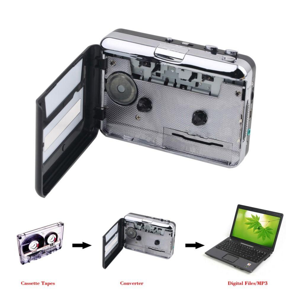 Mini USB2.0 Tragbare Band zu PC Super Kassette Zu MP3 Audio Musik CD Digital Player Converter Capture Recorder + Kopfhörer