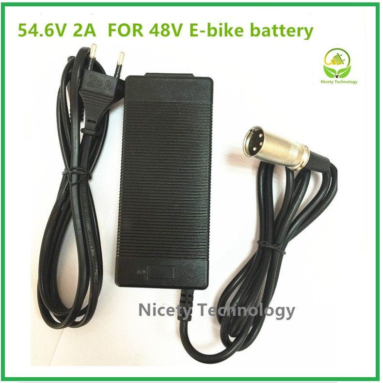 54.6V2A chargeur 54.6 v 2A vélo électrique au lithium batterie chargeur pour 48 V batterie au lithium pack XLRM Plug 54.6V2A chargeur