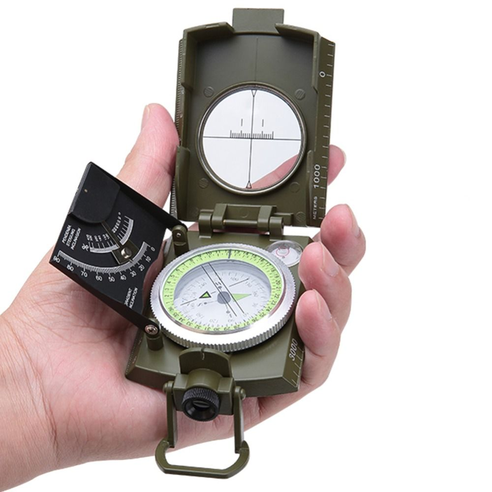 New Multifunctional Military Compass Professional Camping Outdoor Marine Camp Bussola Survival Magnet Guide Kompas Army Green