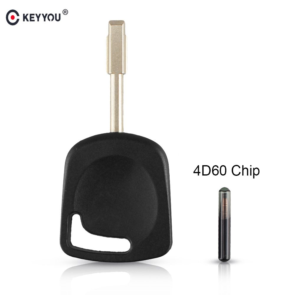KEYYOU Transponder Car Key Shell For Ford Focus Mondeo Escort Fiesta Transit Fusion Remote Key FO21 Blade 4D60 Chip