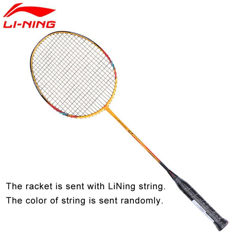 Li-Ning U-Sonic 67 Badminton Schläger Mit String Professionelle Carbon Faser Futter Schläger AYPM228 ZYF212