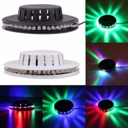 Mini 48 RGB  Sunflower LED Light Colorful Disco DJ Effect Light Party Show Rotate Horse Race Stage Lighting