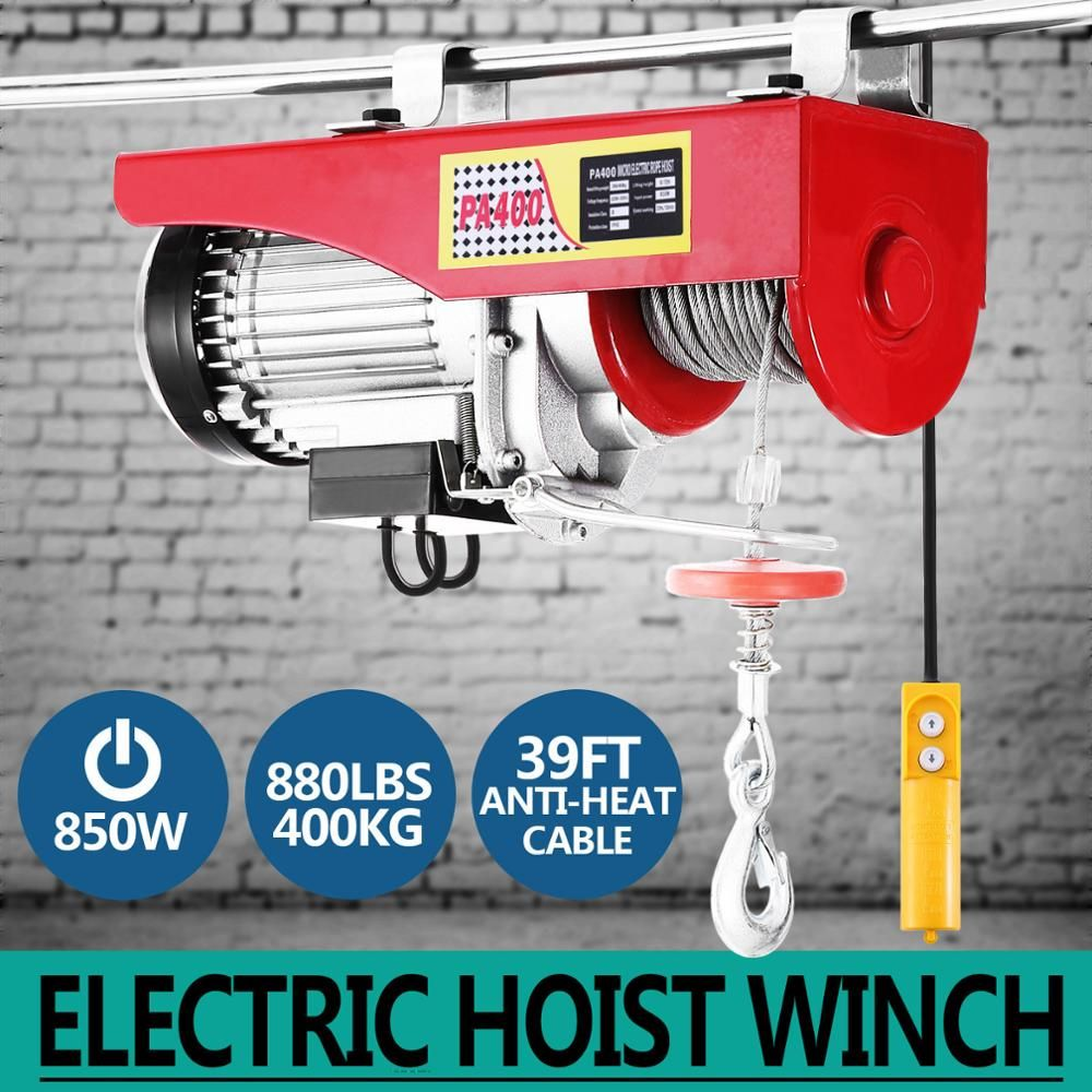 Electric Hoist 880 LBS Lift Electric Hoist 750W Overhead Electric Hoist with 230V 60Hz
