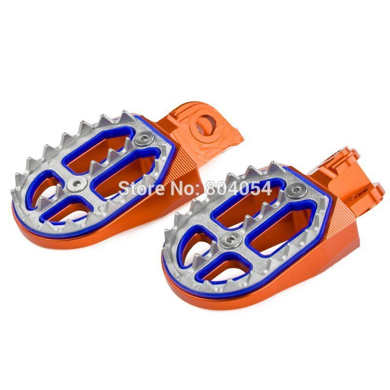 Billet CNC Foot Pegs Rests Footrest Pedals For KTM 65 85 125 150 200 250 300 400 450 520 525 530 SX SX-F EXC EXC-F SMR FREERIDE