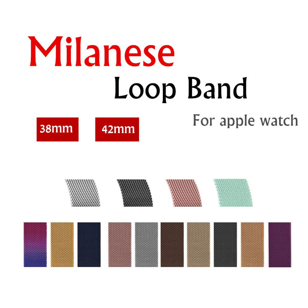 Milanese Loop For apple watch band 42mm/38mm 4 44mm 40mm iwatch series 4/3/2/1 Stainless Steel Link Bracelet wrist watchband