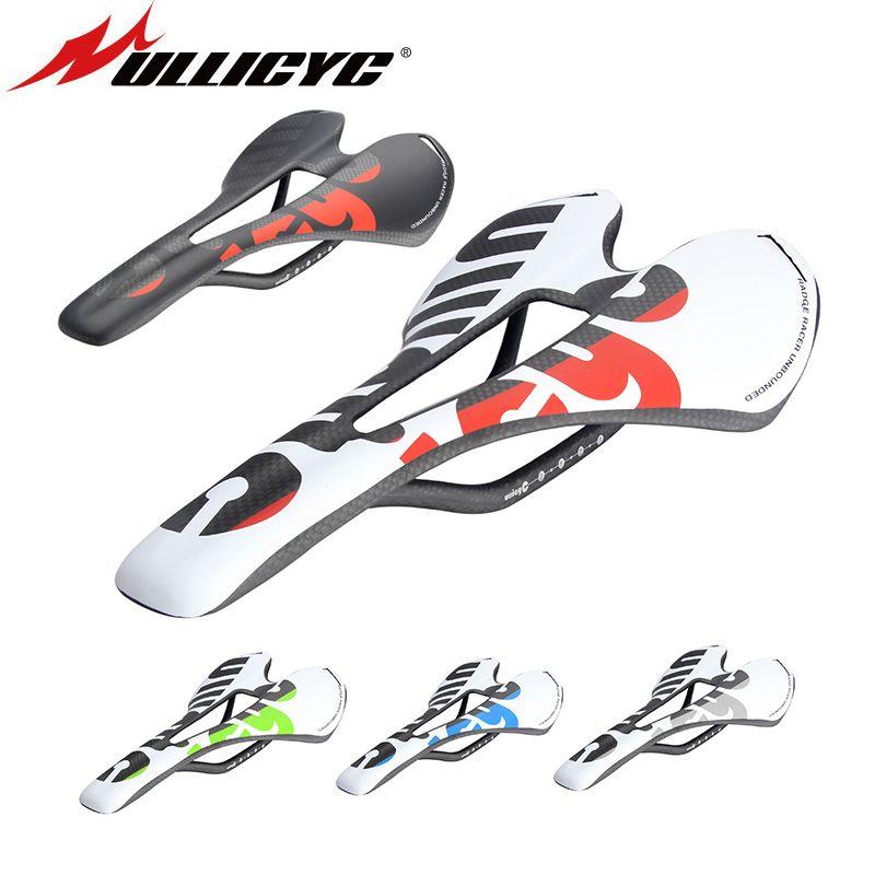 New Ullicyc 3K Full Carbon Fiber Bicycle Saddle <font><b>Road</b></font>/MTB Bike Carbon Saddle Seat Matte/Glossy colorful ZD143