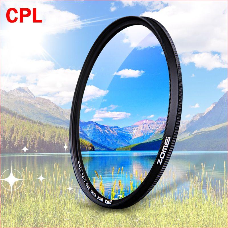 ZOMEI CPL Circulaire Polarisant Caméra filtre pour Canon Nikon DSLR Camera lens 52mm/55/58/62/67/72/77/82mm