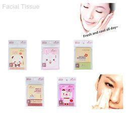 1 Pack 40 hoja Facial oil Control absorción cerradura papel agua tejido cara Control de aceite papel absorbente maquillaje belleza herramientas