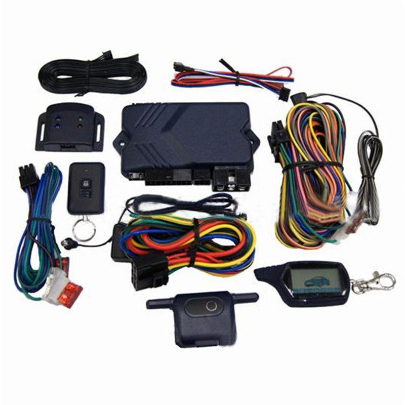 Two-way Car Burglar Alarm RC Anti-theft System of Russian version  Two Way Car Alarm System For Twage B9