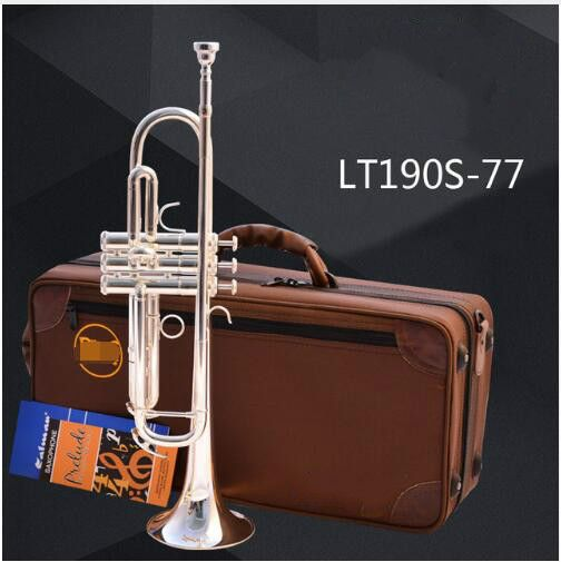 Brand Trumpet LT190S-77 Silver Plated Surface Trumpete Small Brass Professional For Students Musical Instrument Trompeta