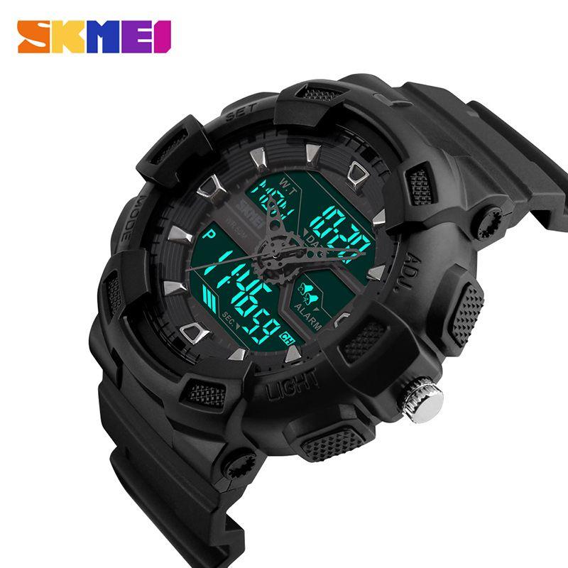 SKMEI hommes Sports de plein air montres chronographe mode multifonction montre étanche numérique montres Relogio Masculino 1189