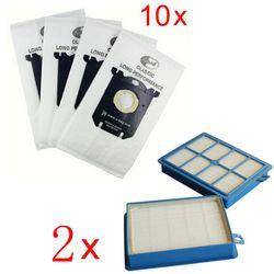 10x мешки для пылесосов s-мешок и 2x H12 Hepa фильтр подходит для Philips Electrolux чище Очиститель Бесплатная доставка