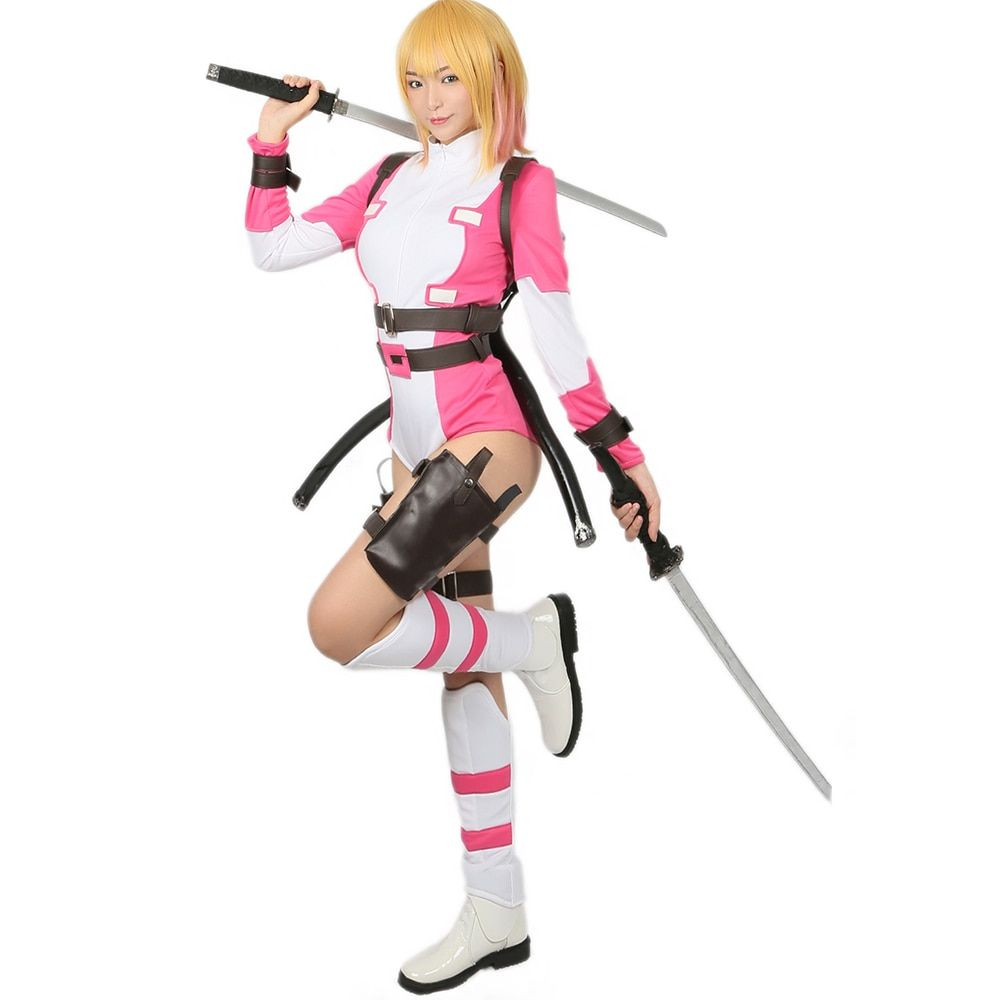 Coslive Gwenpool Costume Superhero Deadpool Halloween Cosplay Costume Adult Outfit for Carnival Show