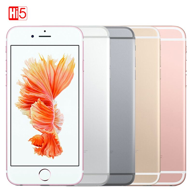 Unlocked Apple iPhone 6S WIFI <font><b>Dual</b></font> Core smartphone 16G/64G/128GB ROM 4.7 display 12MP 4K Video iOS LTE fingerprint phone