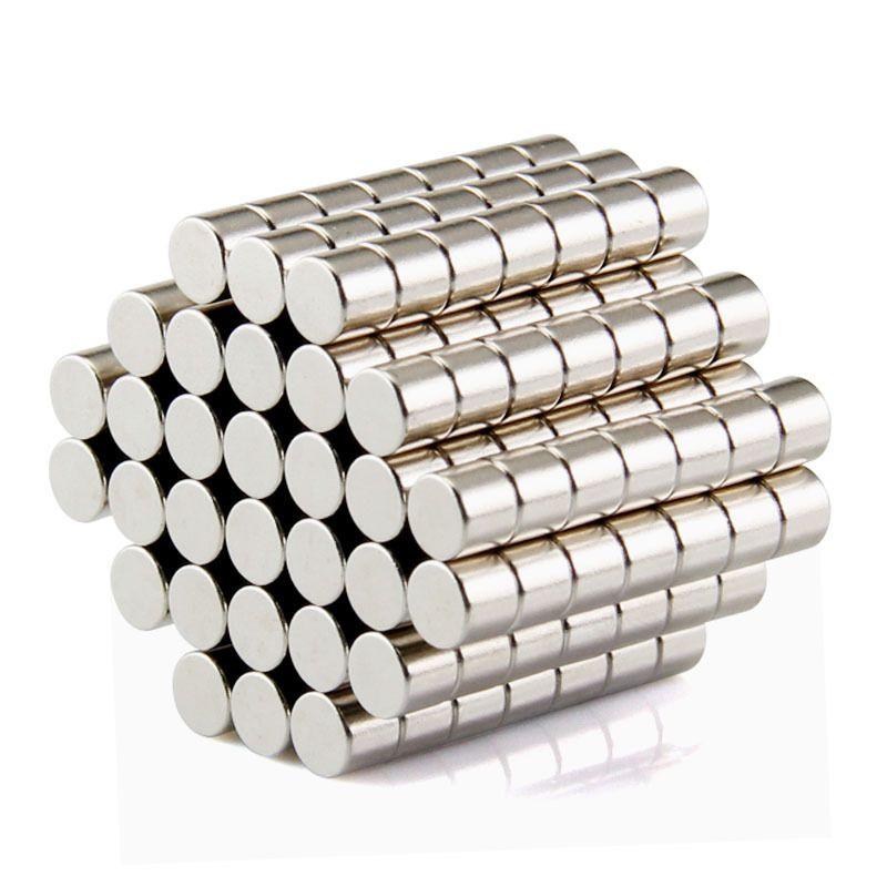 100pcs Free Shipping Disc Mini 5x3mm N50 Rare Earth Strong Neodymium Magnet Bulk Super Magnets N50
