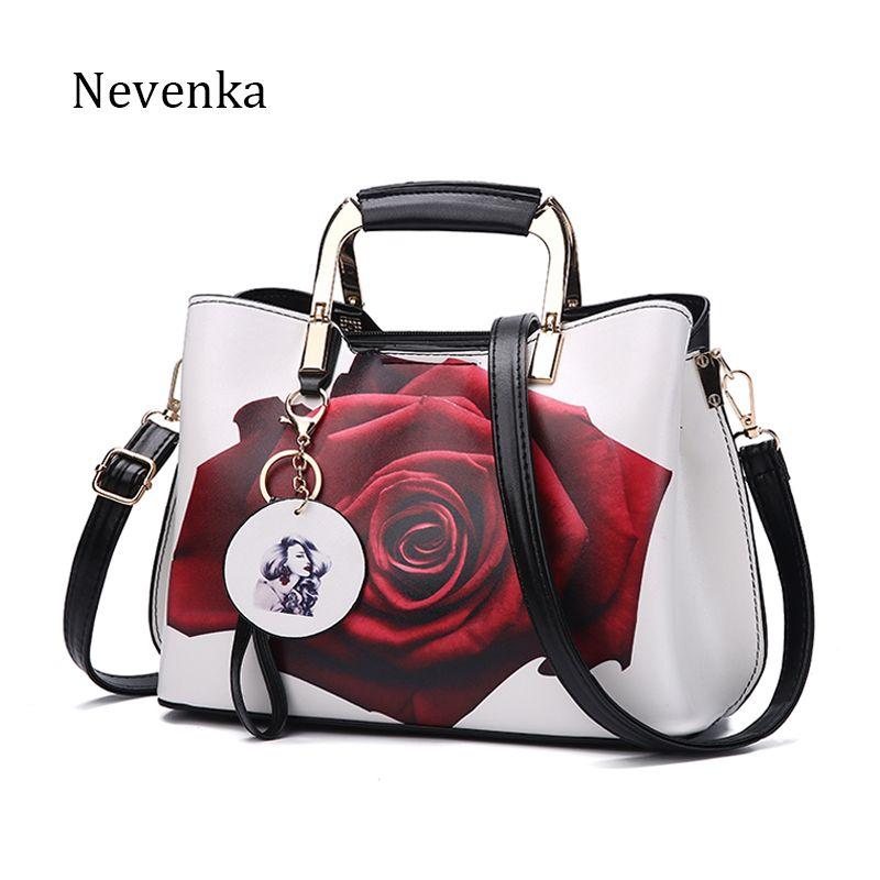 Nevenka Frauen Handtasche Mode-stil Weiblichen Gemalt Schultertasche Muster Messenger Bags Leder Lässig-einkaufstasche Abendtasche