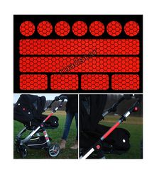 Hot sell reflective sticker 13 stickers for pushchairs, bicycle helmets and more