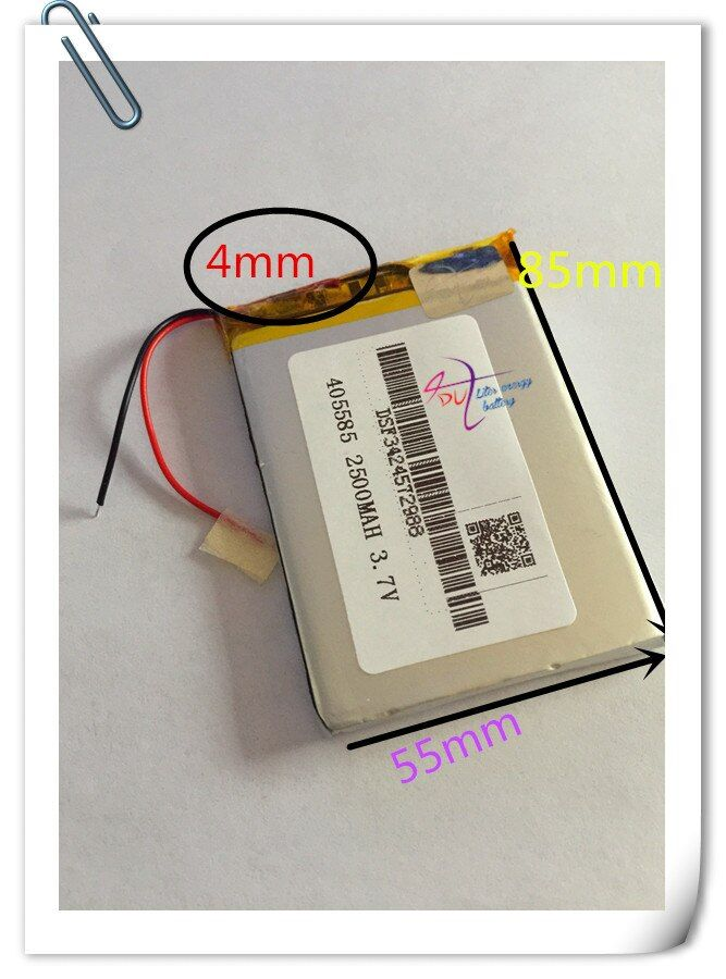 Großhandel 10 teile/los 405585 lithium-polymer-akku 3,7 v 2500 mah li-ion wiederaufladbare akkumulator für bewegliche energienbank diy e-book
