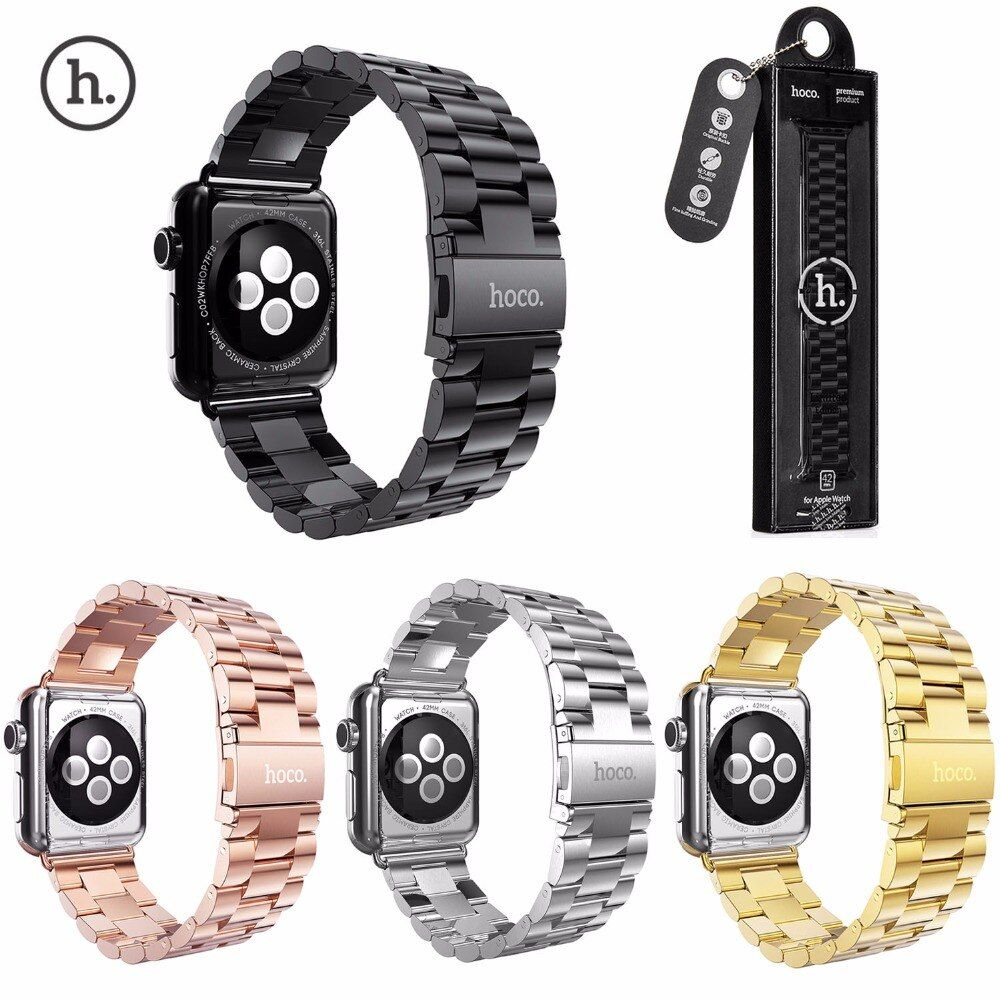 38/42mm Apple Watch Band Strap Mesh Black/Silver Closure Stainless Steel iWatch HQ Cool Replacement Bracelet