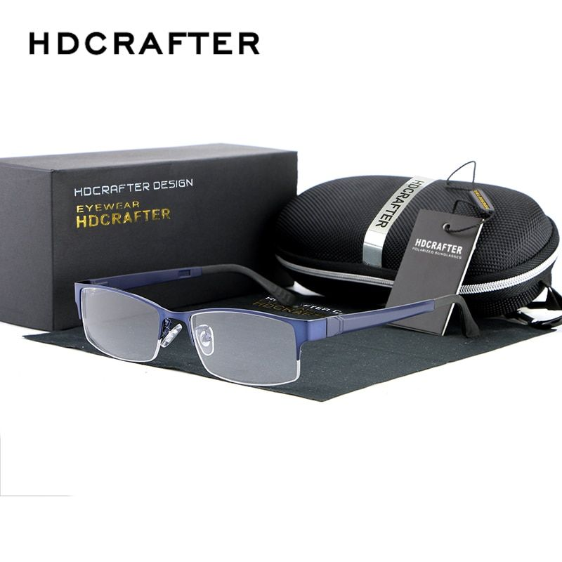 2017 HDCRAFTER New  Eye Glasses Frame Men Women Myopia Eyeglasses Fashion Optical Frame Plain Mirror Oculos