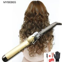 Profesional 38mm/32/28/25/22 Penyesuaian Suhu Keramik Curling iron Hair curler Tongkat Penjepit rambut Alat Pengeriting Rambut Rambut
