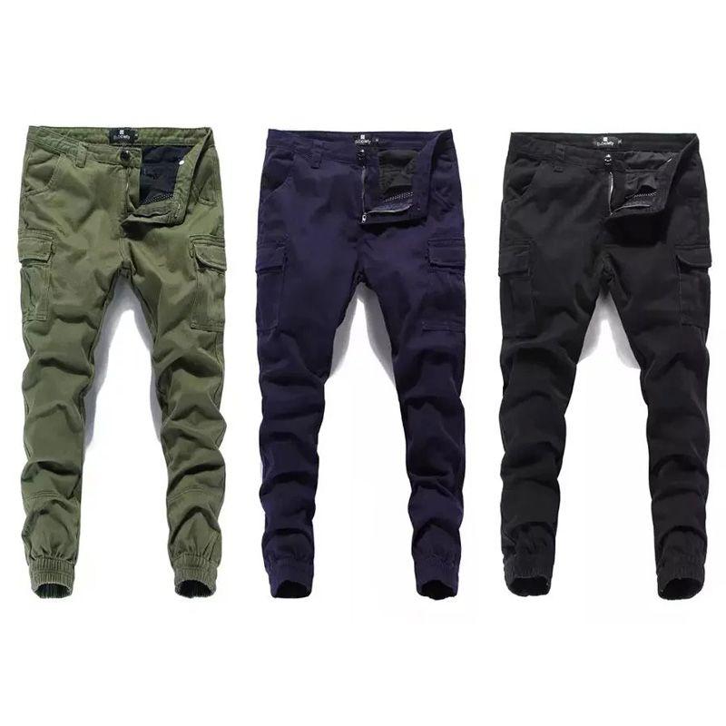 Fashion Classical Men Jeans Jogger Pants Street Denim Cotton Cropped Pants Ankle Banded Army Pants Brand Jeans Men Cargo Pants